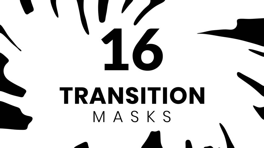 16 ink transition masks for business presentation. Cartoon style. Animated liquid shape. Royalty-Free Stock Footage #1021932148