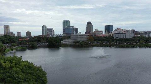 St. Petersburg, Florida / United States - 12 1 2018 : Aerial of St. Petersburg, Florida sights and architecture