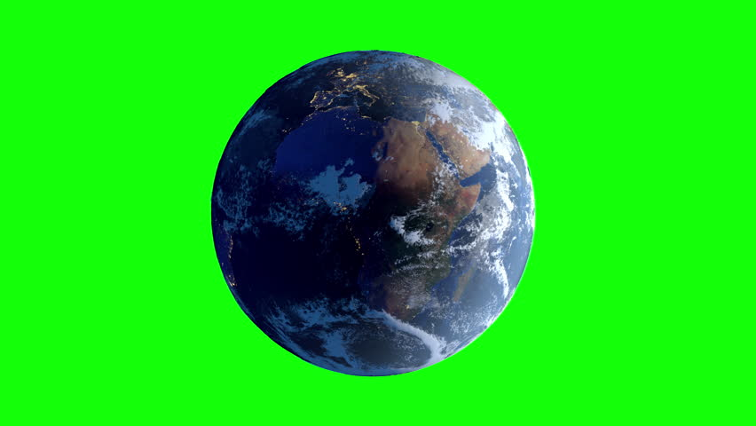 Animation of Planet earth as seen from space on a green screen background. Elements of this media furnished by NASA.