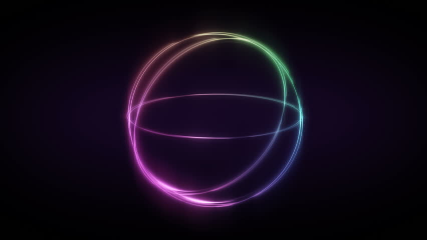 Motion graphic neon light theam . Abstract background illuminate light ,neon Technology backgroud #1021983445