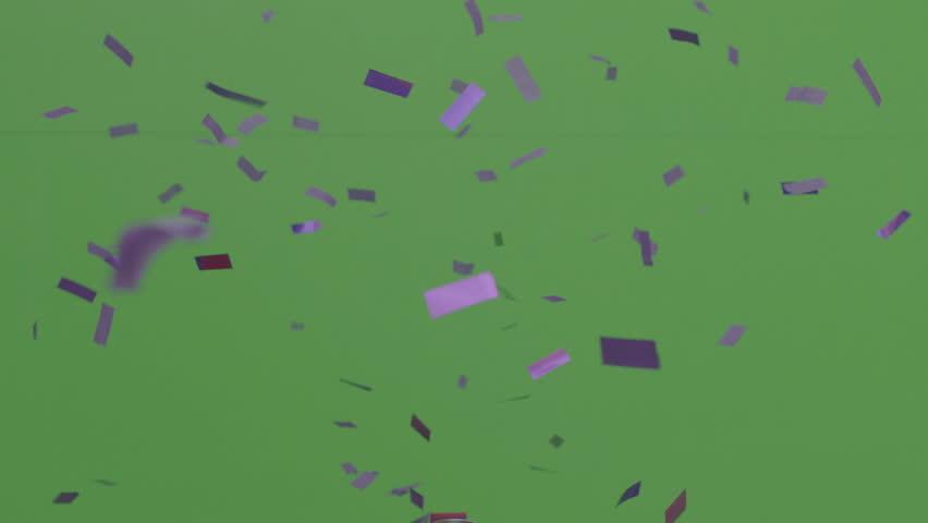 Confetti cannon purple falling  | Shutterstock HD Video #1021988977