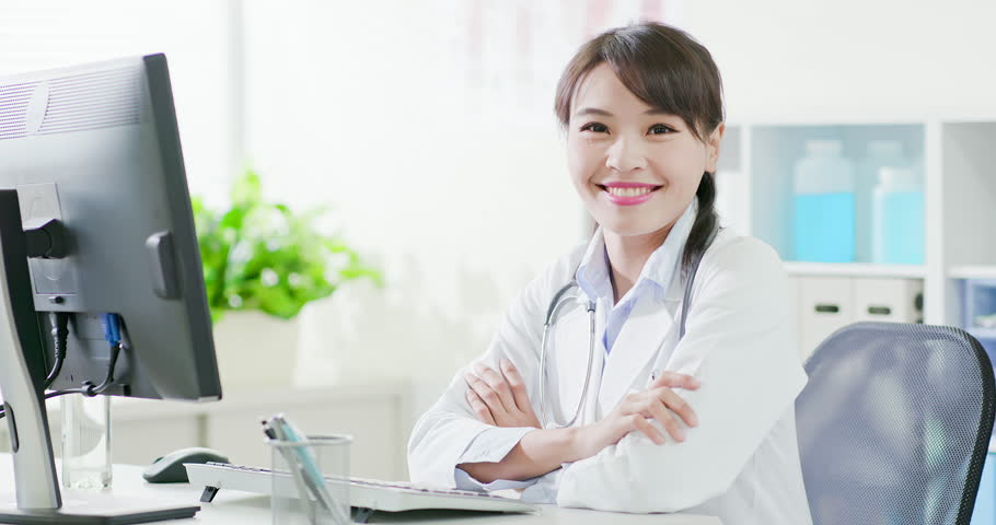Woman doctor work and smile to you in the hospital