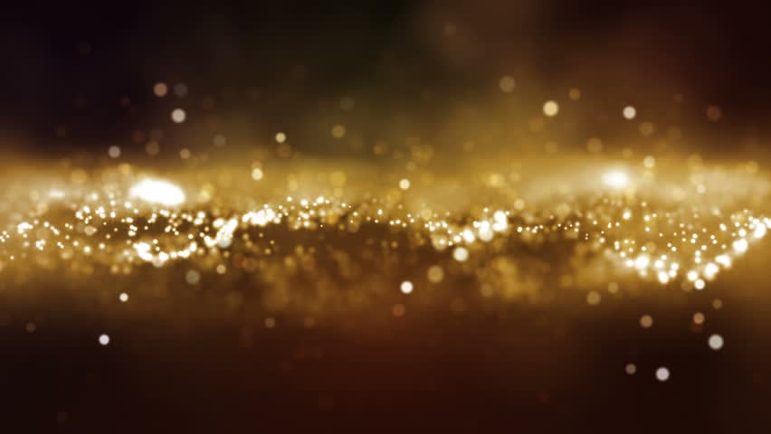 Abstract motion background shining gold particles stars sparks wave movement loop | Shutterstock HD Video #1022009716