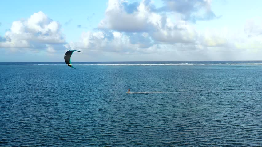 Kite surf on a lagoon in aerial view, Philippines   Shutterstock HD Video #1022022805
