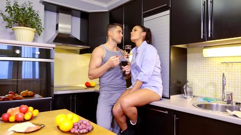 Sexy Mom In Kitchen