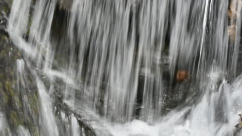 The water flows profusely