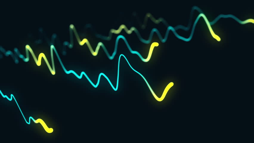 Animation growth of abstract charts with changing values of check points on dark background. Animation of seamless loop.   Shutterstock HD Video #1022110504