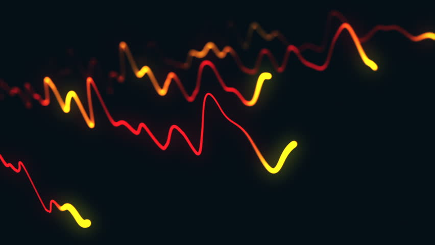 Animation growth of abstract charts with changing values of check points on dark background. Animation of seamless loop.   Shutterstock HD Video #1022110585