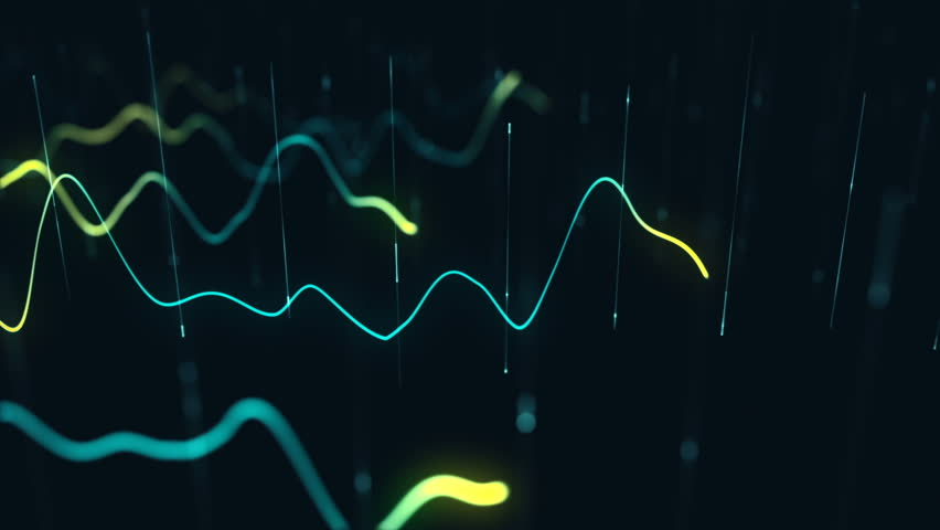 Animation growth of abstract charts with changing values of check points on dark background. Animation of seamless loop.   Shutterstock HD Video #1022110612