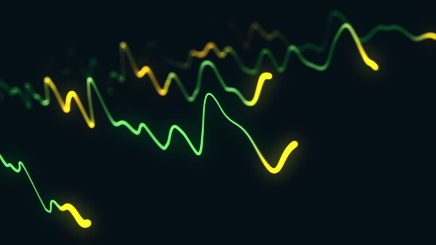 Animation growth of abstract charts with changing values of check points on dark background. Animation of seamless loop.   Shutterstock HD Video #1022111035