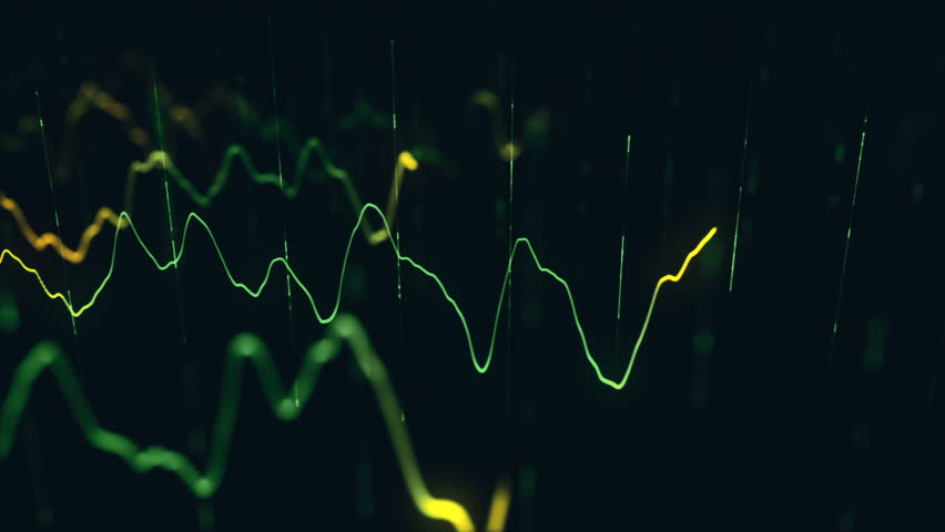 Animation growth of abstract charts with changing values of check points on dark background. Animation of seamless loop.   Shutterstock HD Video #1022111068