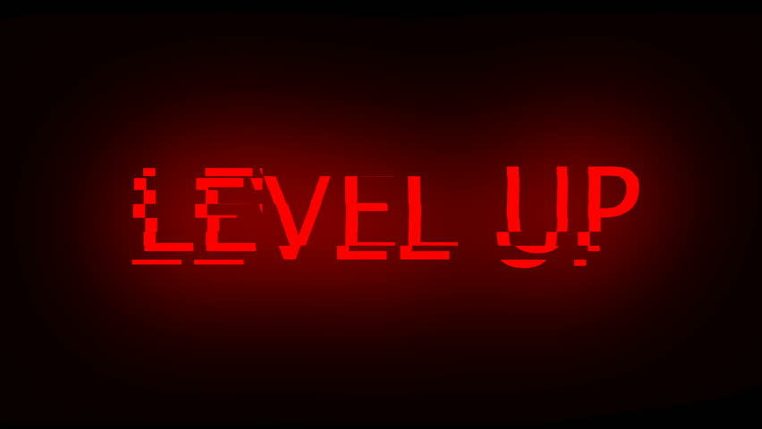 Letters of Level up text with noise on black, 3d rendering background, computer generating for gaming | Shutterstock HD Video #1022259781