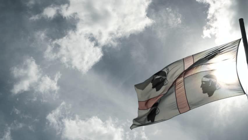 Flag of Sardinia Slow Motion    Shutterstock HD Video #1022318569