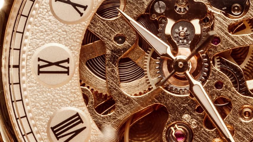 Antique clock dial close-up. Vintage pocket watch. | Shutterstock HD Video #1022332390