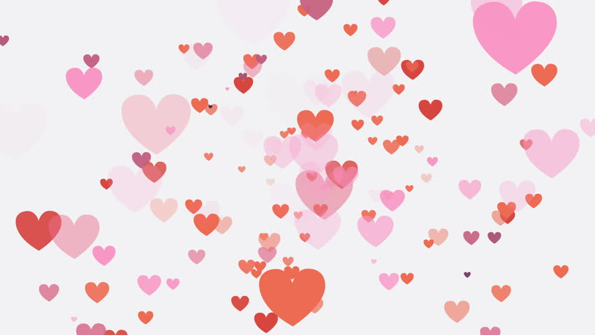 Red and pink hearts over a white background. Valentine's Day holiday motion backdrop loop.   Shutterstock HD Video #1022372236
