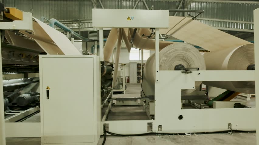 Automatic Paper Folding Machine. Paper Factory. | Shutterstock HD Video #1022387785