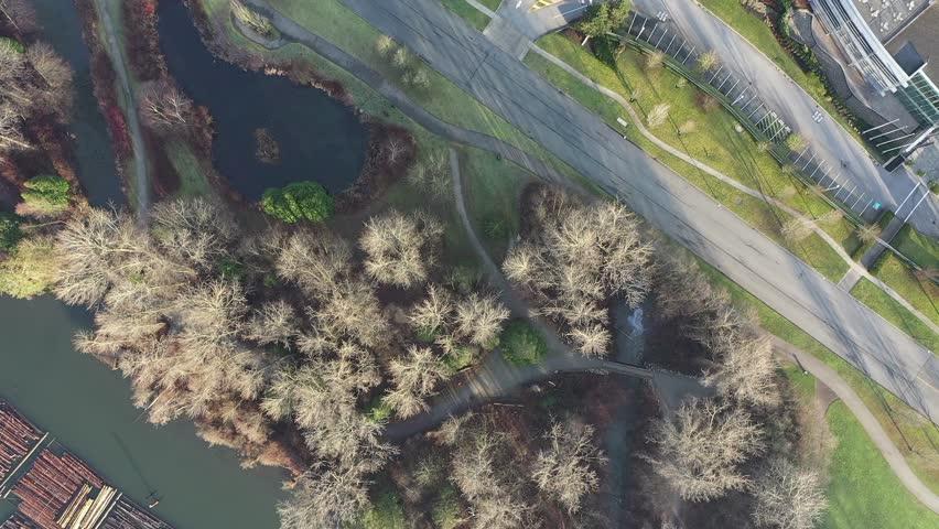 Business Park Cityscape. Aerial Flight. Drone. 4K. | Shutterstock HD Video #1022388037