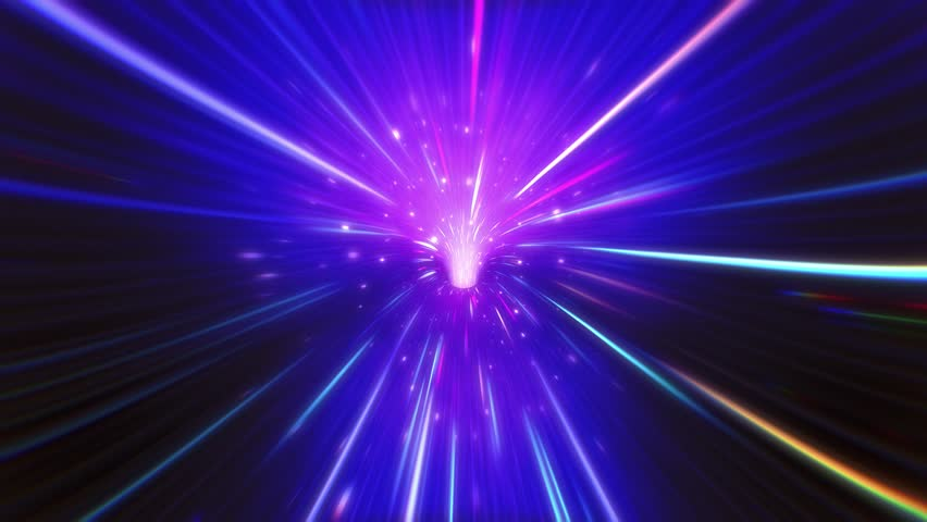 Neon VJ Light Tunnel. Seamlessly Looping Animated Background.