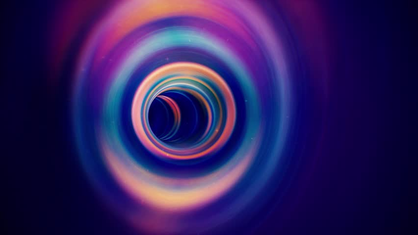 Magic Blue Rotating Wormhole with Particles. Seamlessly Looping Animated Background.