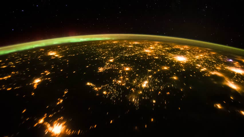 4K time lapse view from International Space Station passing over Chicago and eastern Canada. Time lapse is rendered from NASA free photos
