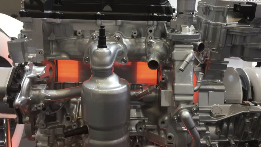 Engine works -piston and valve working in the cylinder | Shutterstock HD Video #1022462626