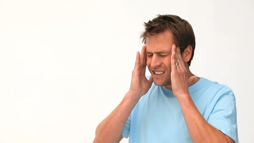 Man Having a Migraine Stock Footage Video (100% Royalty-free ...