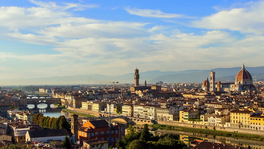 Time Lapse View Overlooking Florence City Landscape | Shutterstock HD Video #1022464156
