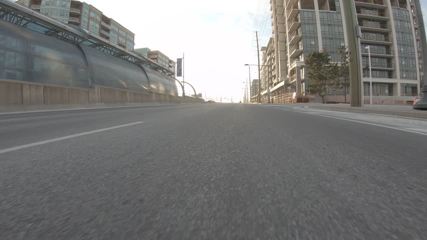 Toronto, Ontario, Canada January 2019 Driving plate POV low angle through the city of Toronto streets | Shutterstock HD Video #1022524018