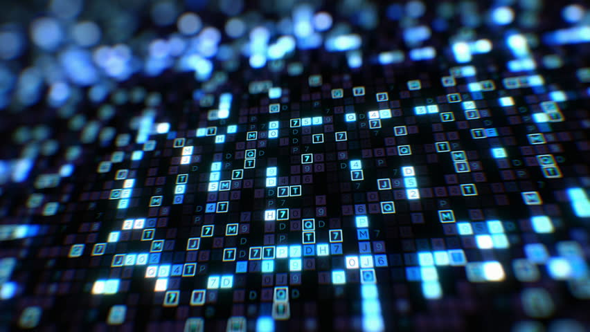 Beautiful Digital Code Hexadecimal Big Data Blue Color Seamless. Changing Letters and Numbers Glowing Looped 3d Animation. Futuristic Business Information Technology Concept. 4k Ultra HD 3840x2160.  | Shutterstock HD Video #1022589595