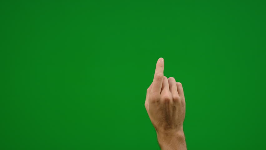 Set of 9 different one finger swipe gestures fast and slow on greenscreen shot on R3D in 4k