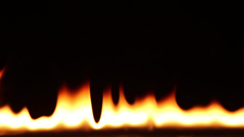 Fire ignite on black background #1022608618