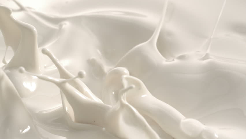 Cream Milk Splashing Macro Shot on Phantom Camera  | Shutterstock HD Video #1022627242