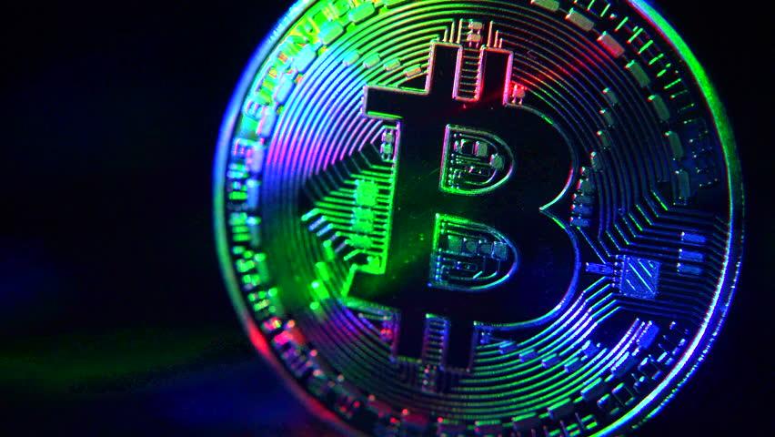 Bitcoin coin on a dark background | Shutterstock HD Video #1022680651