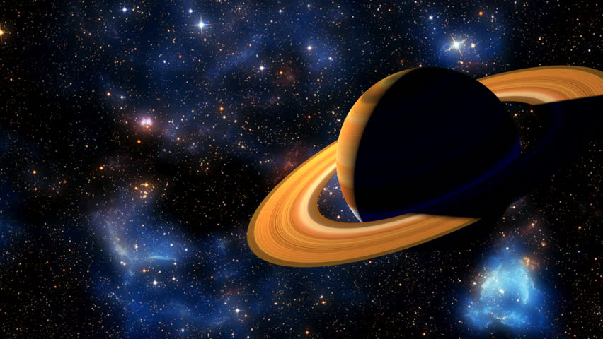 3D Animation of the Planet Saturn - Slow Push In.  Background Star Field Image Furnished by NASA #1022713093