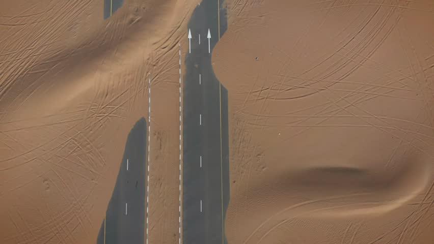 Ariel Footage of Abandoned Desert Roads