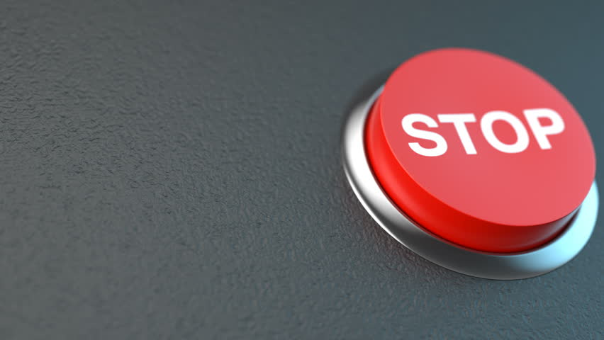Red button symbolising the stop | Shutterstock HD Video #1022726917