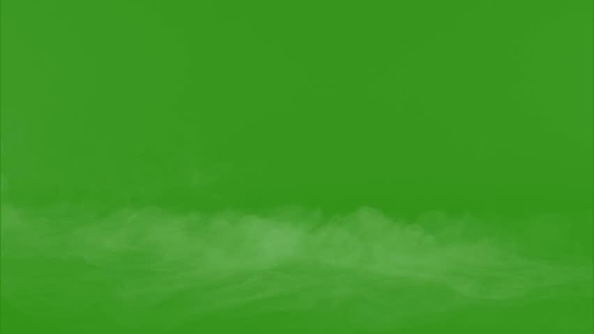 smoke with green screen #1022781430