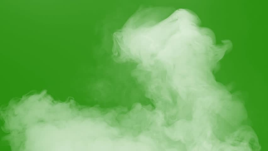 smoke with green screen #1022781445