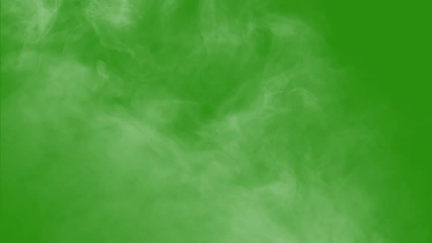 smoke with green screen #1022781448