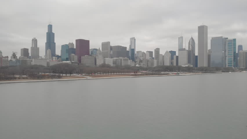 Chicago downtown skyline buildings aerial | Shutterstock HD Video #1022782048