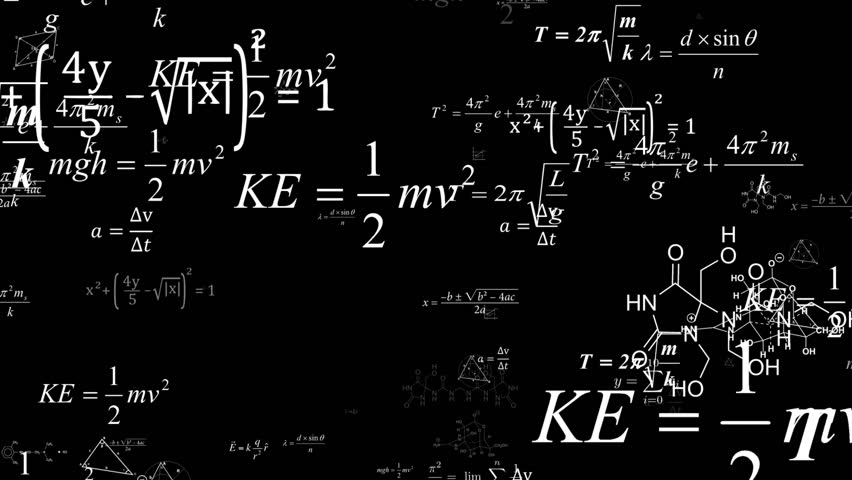 The camera flies to the formulas. Dolly zoom.Camera fly through matrix made up of math formulas and equations.Mathematical cognitive process. Abstract cognitive process concept. Royalty-Free Stock Footage #1022800384