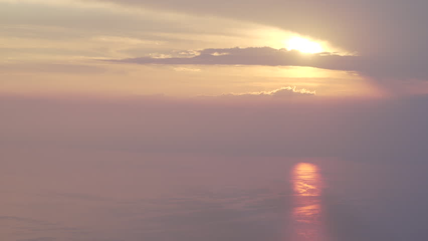 Large and high view of the Lake Leman in the sunset, Verbier, Switzerland | Shutterstock HD Video #1022819575