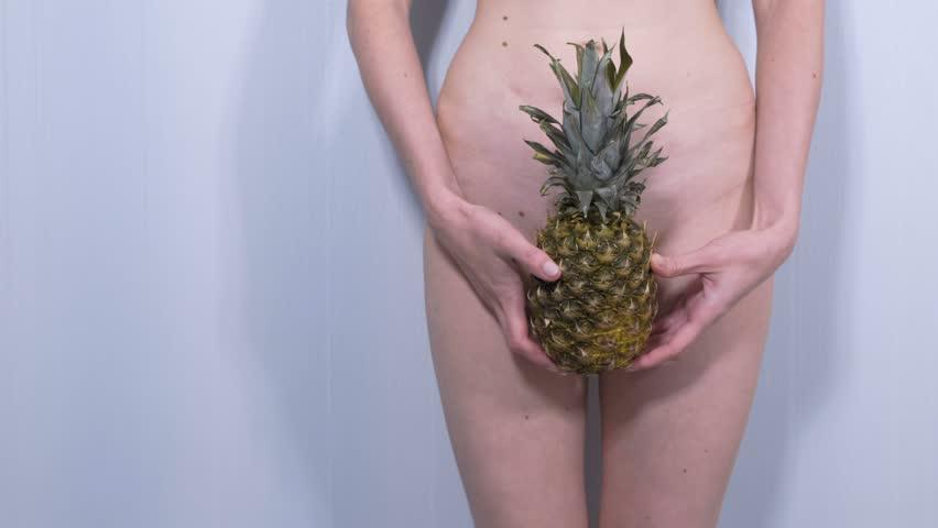 Nude Print Sexy Art Print Pineapple Art Pineapple Print