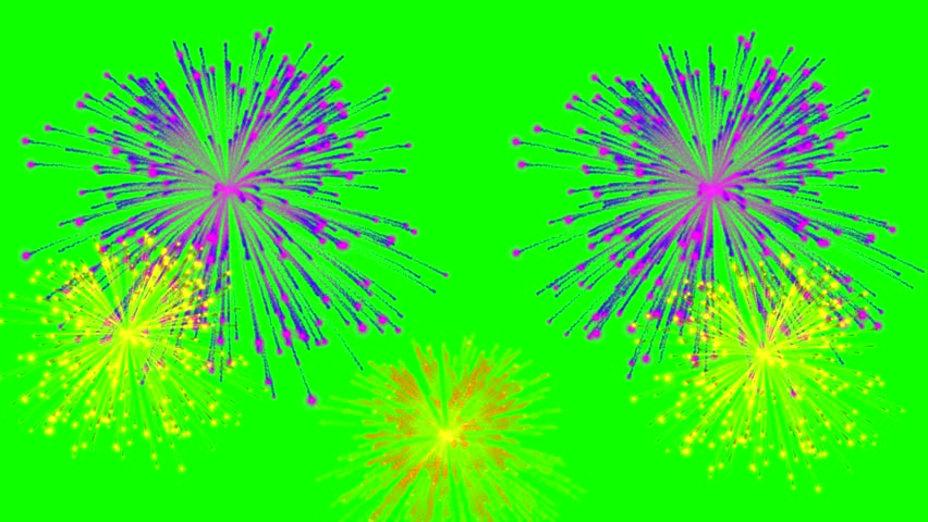 4k Colorful fireworks on green background   Shutterstock HD Video #1022845006