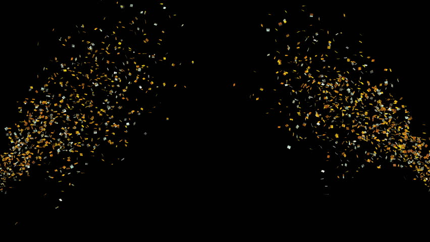 Loopable 4k video with golden foil confetti streamers, festive party backgroun | Shutterstock HD Video #1022886478