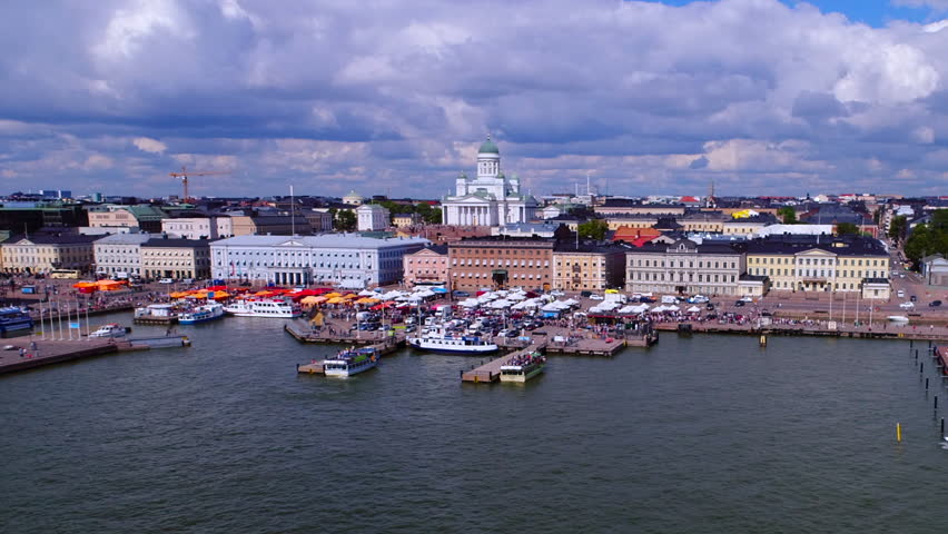 Helsinki Aerial, Finland | Shutterstock HD Video #1022890918