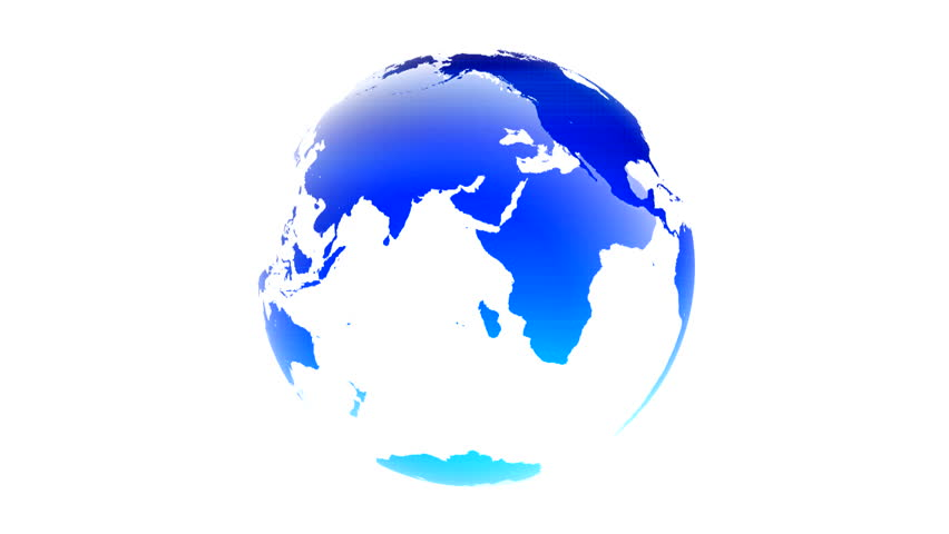 Different colors and lights inserted into the world map white background world map blue white globe loop animation Planet Earth spinning isolated on white background rotating globe digital data world | Shutterstock HD Video #1022915332