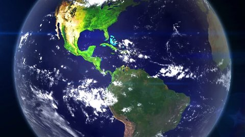Realistic Earth Zoom Out From Stock Footage Video 100 Royalty