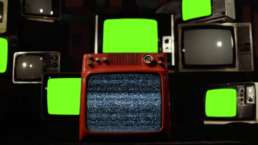 "Malfunction Old Tvs with Green Screen. Zoom Out. You can replace green screen with the footage or picture you want. You can do it with ""Keying"" effect in Any FX program (check out tutorials). 