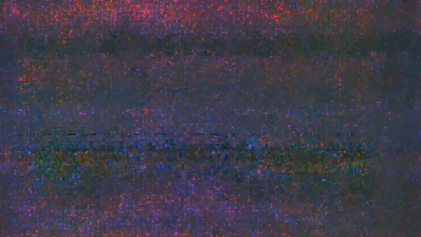 Abstract digital glitch art animation effect. Retro futurism wave style. Video signal damage with pixel noise and error interference #1022988370
